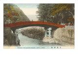 Mihashi Bridge, Nikko, Japan Posters