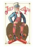 Uncle Sam Riding Eagle, Fourth of July Photo