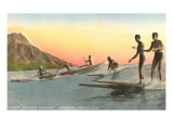 Surf Riders at Waikiki, Hawaii Prints