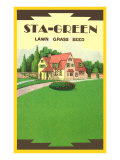 Sta-Green Lawn Grass Seed Packet Posters