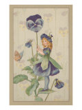 Garden Fairy with Pansy Prints