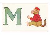 M, Monkey Posters