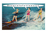 Congratulations!!!, Water Skiers Prints
