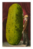 Man with Giant Watermelon Poster
