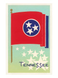 Tennessee Flag Art Print