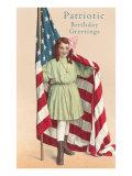 Patriotic Birthday Greetings Print