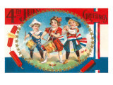 4th of July Greetings, Child Fife and Drum Corps Prints