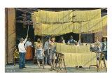 Pasta Drying, Italy Plakater