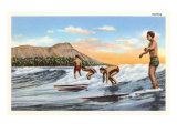 Surfing, Hawaii Poster