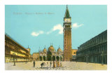 St. Mark's Square and Basilica, Venice, Italy Prints
