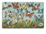 Butterflies with Victorian Children Prints