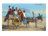 Sicilian Cart with Donkey, Italy Stampe