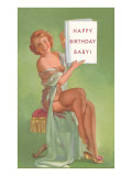 Happy Birthday Baby, Pin-Up Holding Book Posters