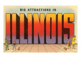 Big Attractions in Illinois, Large Letters Photo