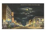 Moon over Sherman Avenue, Coeur d'Alene, Idaho Prints
