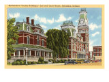 County Buildings, Columbus, Indiana Posters