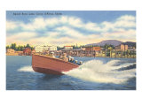 Speedboat, Lake Coeur d'Alene, Idaho Print