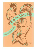 Please Come for Cocktails Posters