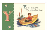 Y is for Yellow Prints