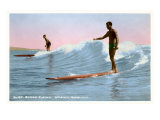 Surf Riding, Waikiki, Hawaii Prints