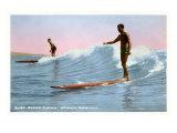 Surf Riding, Waikiki, Hawaii Prints