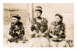 Girls with Ukuleles, Hawaii, Photo Poster