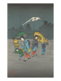 Fujiyama in the Rain Prints