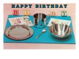 Happy Birthday Baby, Place Setting Print