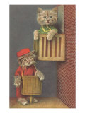 Dressed Kittens, Organ Grinder Art