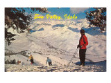 Skiing at Sun Valley, Idaho Prints