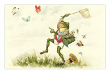 Frog Lepidopterist Posters