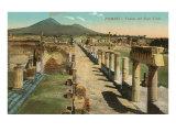 View of the Forum, Pompeii, Italy Kunstdrucke