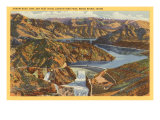 Arrow Rock Dam, Boise River, Idaho Art
