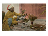 Malee, North African Gardener avec Bouquets Art