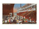 Steamer Day, Honolulu, Hawaii Prints