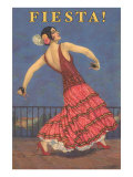 Fiesta! Vintage Flamenco Dancer Poster