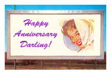 Happy Anniversary Darling, Woman on Billboard Posters