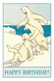 Happy Birthday, Polar Bear Fun Print