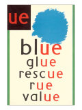 UE in Blue Posters