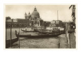 Gondolas and Salute Church, Venice, Italy Art