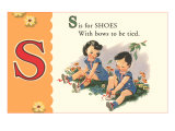S is for Shoes Prints