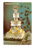 Congratulations, Three-Tiered Wedding Cake Posters