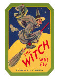 Halloween, The Witch will Fly Prints