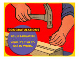 Hammer and Nail for Graduate Prints