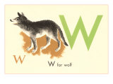 W is for Wolf Prints