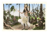 Hula Dancer, Hawaii Kunstdrucke