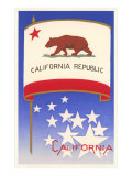 Flag of California Kunstdrucke