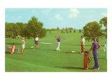 Coed Golfing Prints