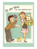 To My Wife, Anniversary, Cartoon Couple Posters