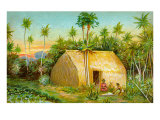 Grass Hut, Hawaii Posters